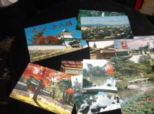 COLLECTION 14 GLOSS COLOUR POSTCARDS IN WALLET ALL NEW KANAZAWA KENROKU EN PARK